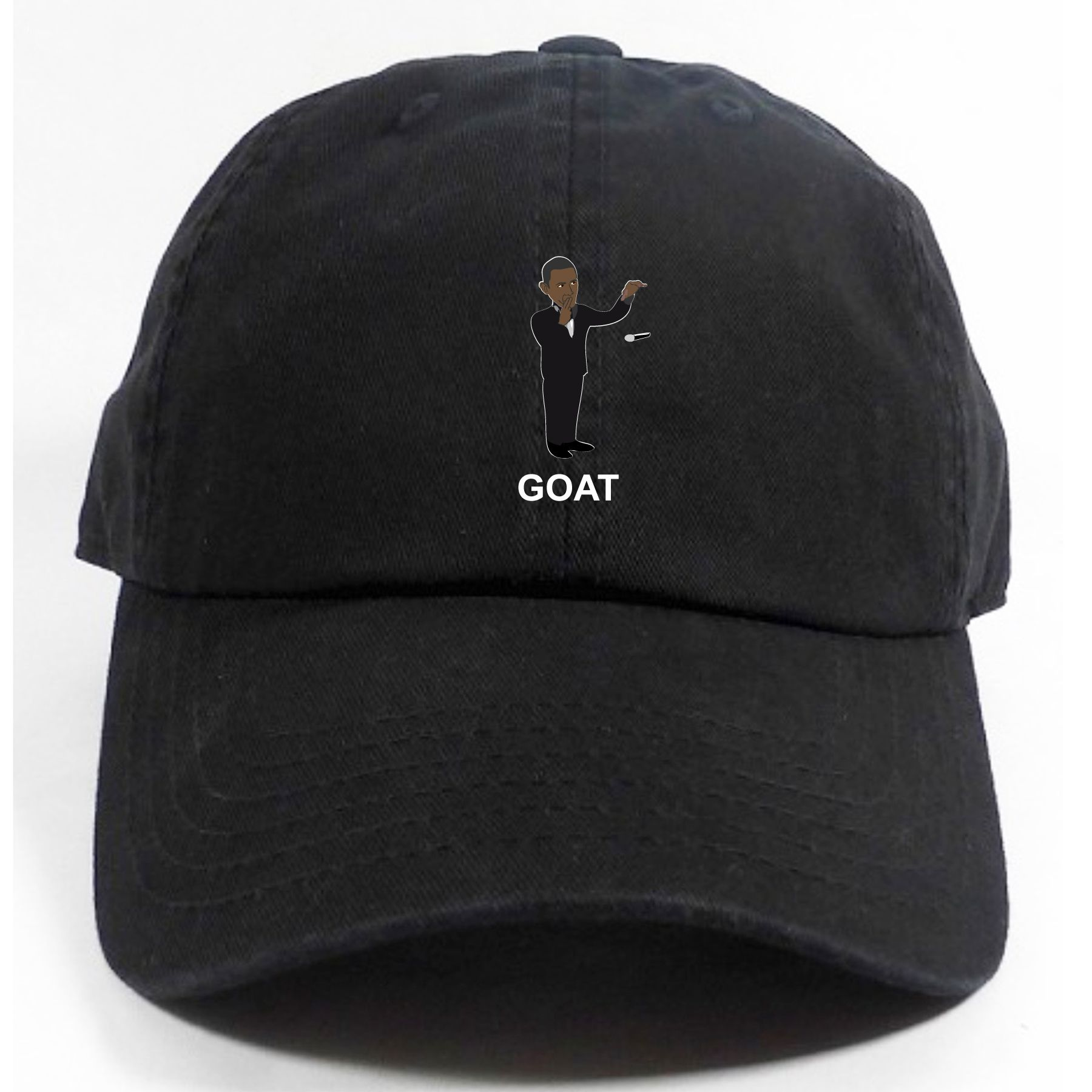 Our brand new  Obama Drops Mic - Obama the GOAT  dad hats are now ... db7ffd9885b6