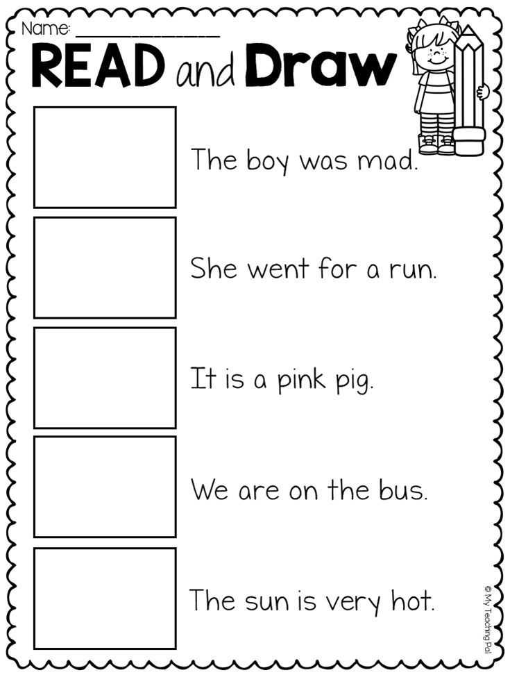 Read and Match Worksheet Pack | ELEMENTARY EDUCATORS | Pinterest
