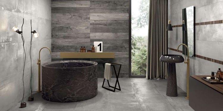 Salle de bain béton ciré –tendance pour donner nouveau look à l ...