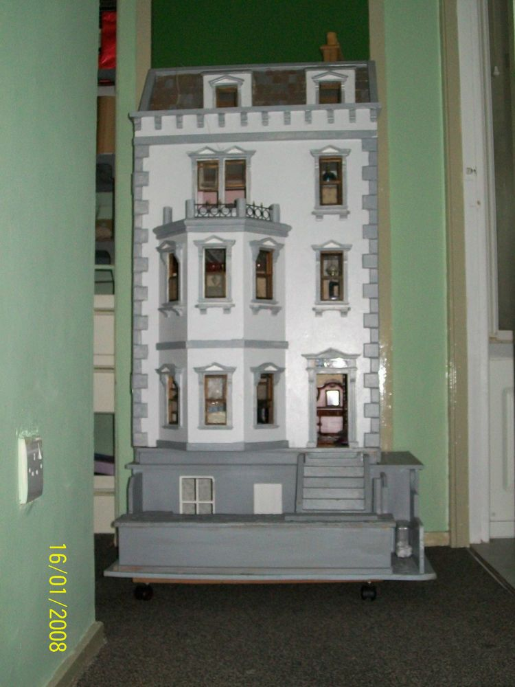 VERY LARGE DOLLS HOUSE WITH BASEMENT