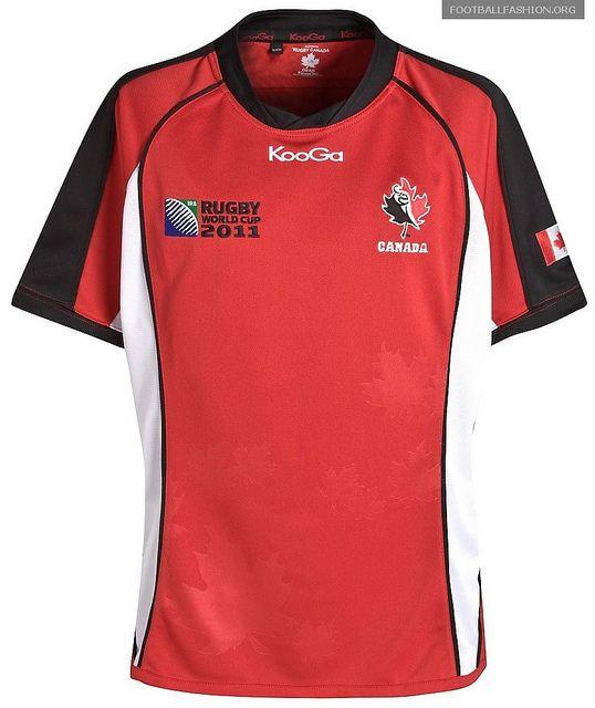 afc661a8c9b Canada KooGa Rugby World Cup 2011 Jerseys / Kits | Rugby Jerseys ...