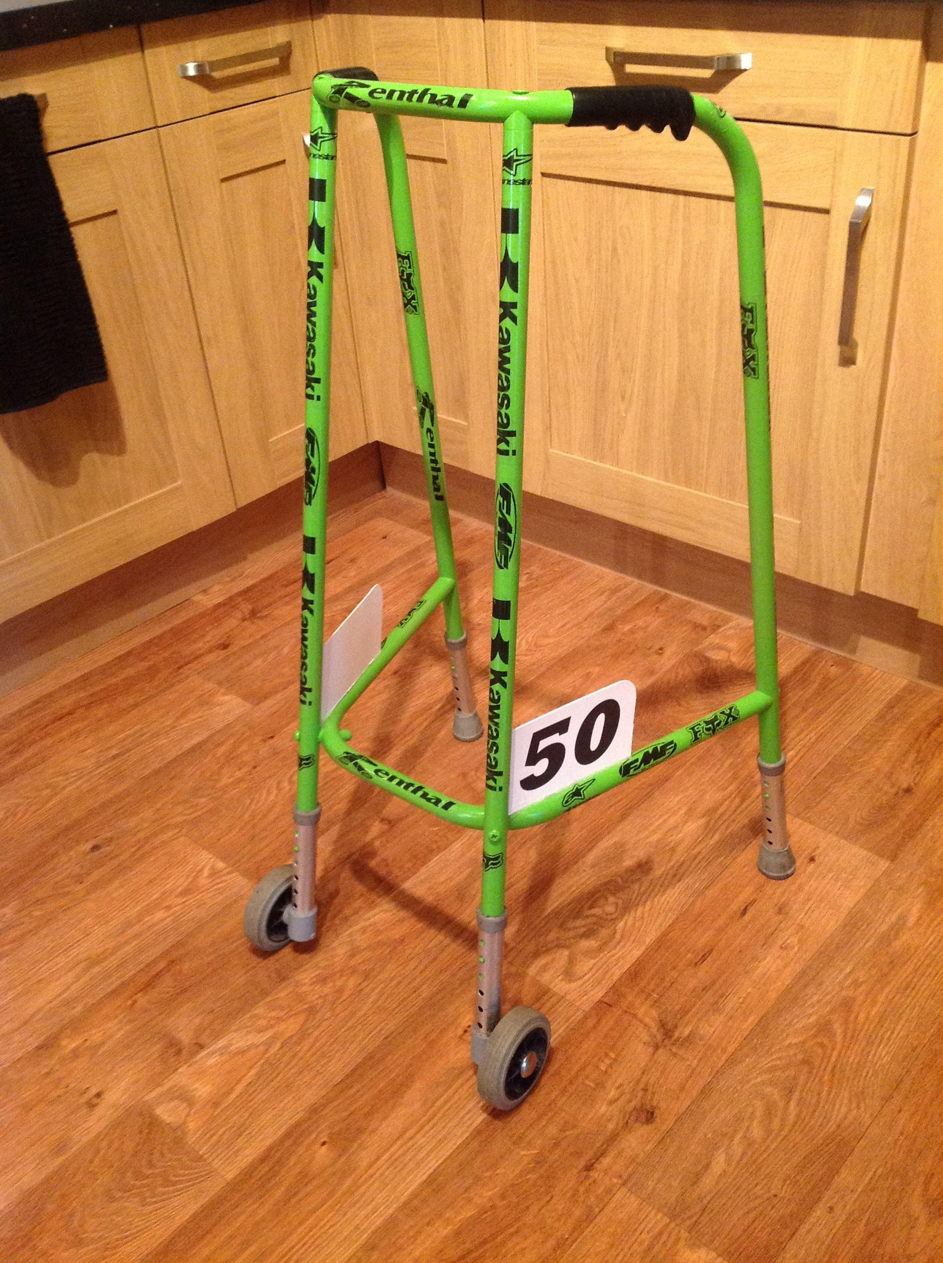 Kawasaki Motorcross Zimmerframe Walker For That Loving 50 Year Old Man Gag Gift