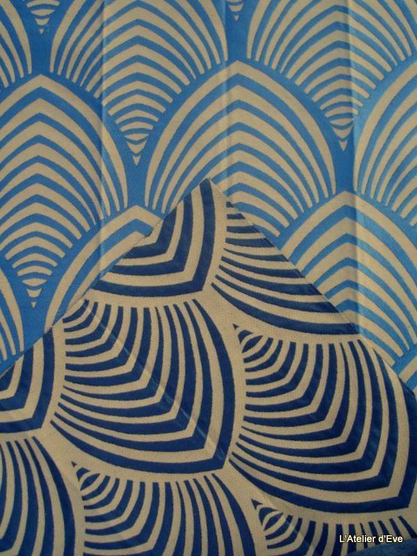 Edo 3 coloris tissu ameublement jacquard reversible pour - Tissu ameublement art deco ...