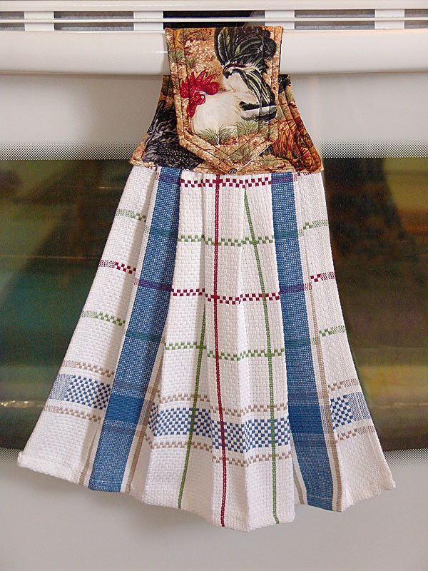 Red Rooster Hanging Dish Towel Dish Towels Towel Dress Dish