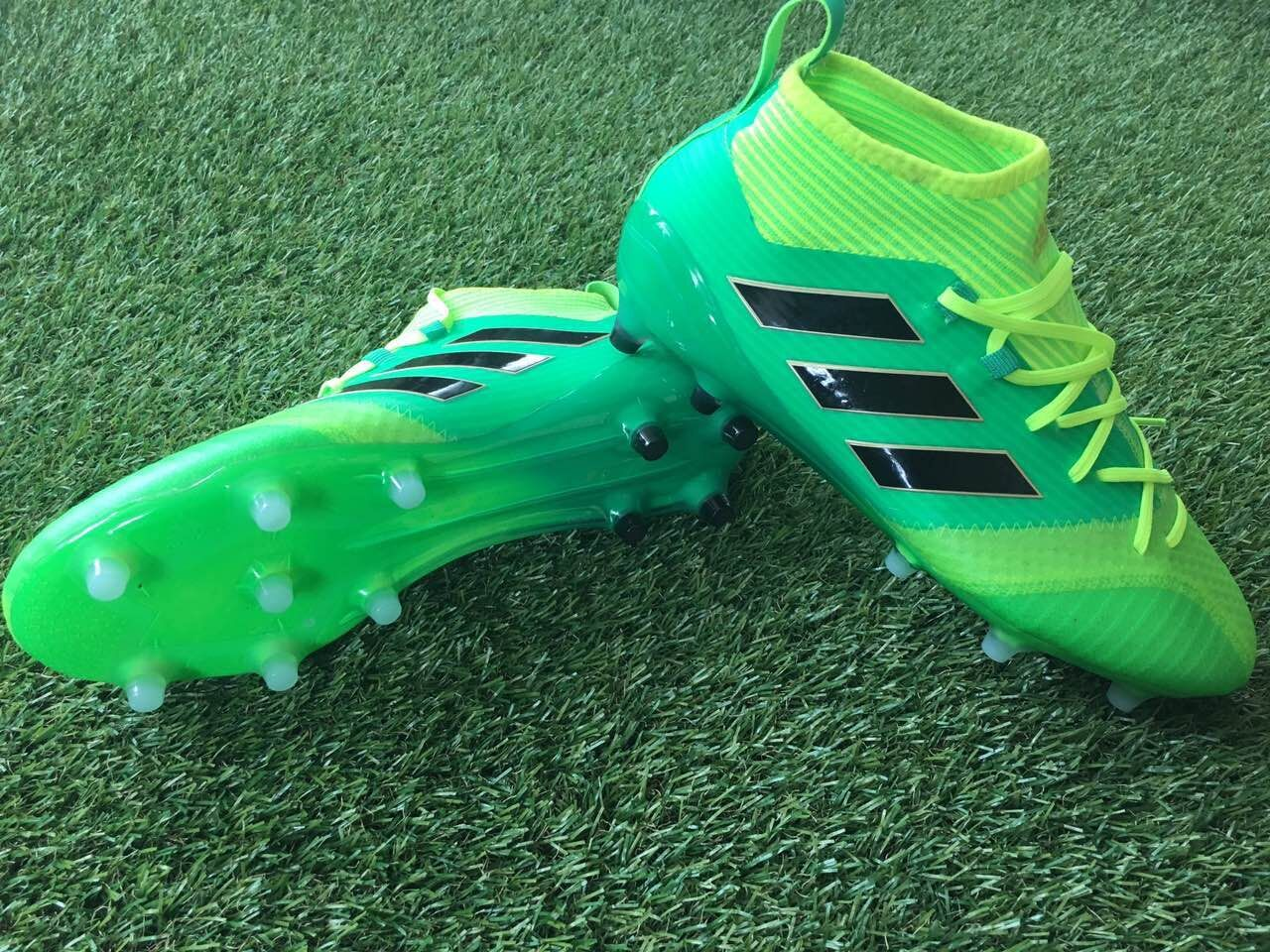 low priced c2ad8 61b4d 2017 Adidas ACE 17 , Solar Green Black Core Yellow Adidas ACE 17.1  Primeknit FG Boots