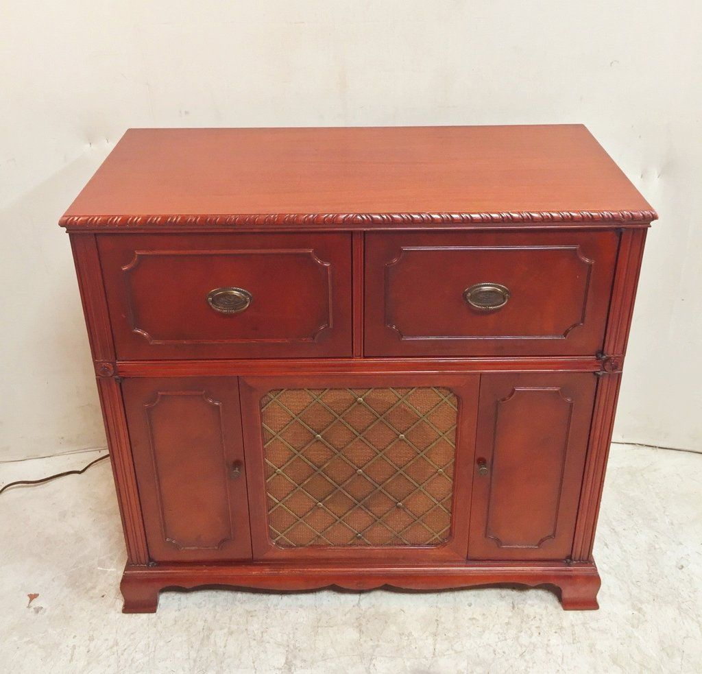 Vintage Solid Wood Stereo Cabinet $185
