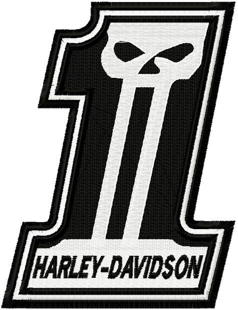 harley davidson number one embroidery design harley davidson rh pinterest ca harley one logo tattoo harley one logo tattoo