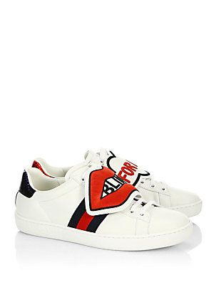 be6d248bf Gucci New Ace Blind For Love Sneakers | Dress | Gucci sneakers ...