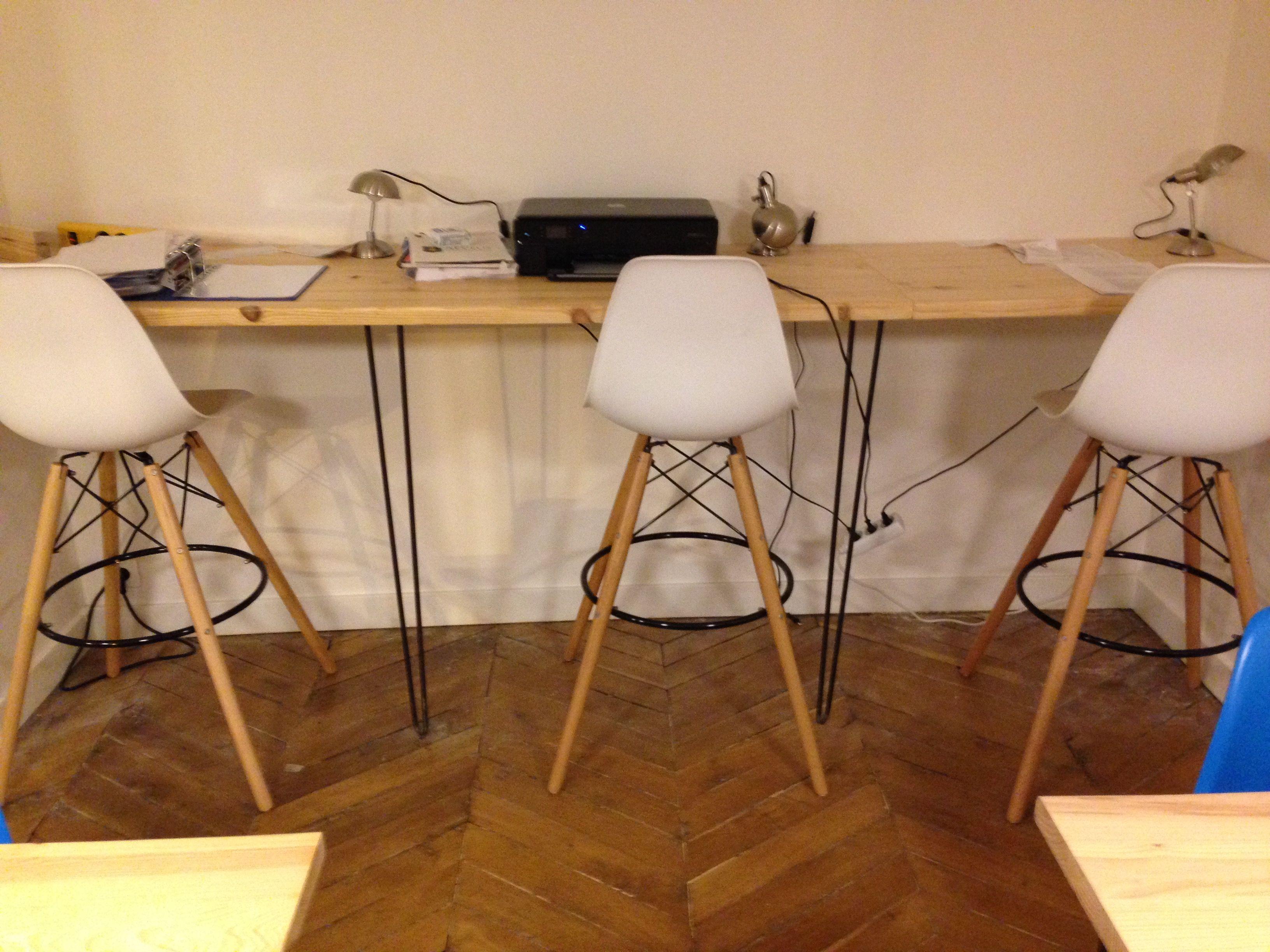 Bureau réalisé par arthur avec nos hairpin legs #diy #diy #meuble