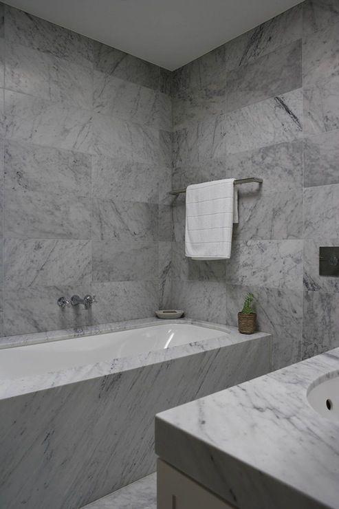 Denai Kulcsar Interiors Bathrooms Marble Tiled Walls Large