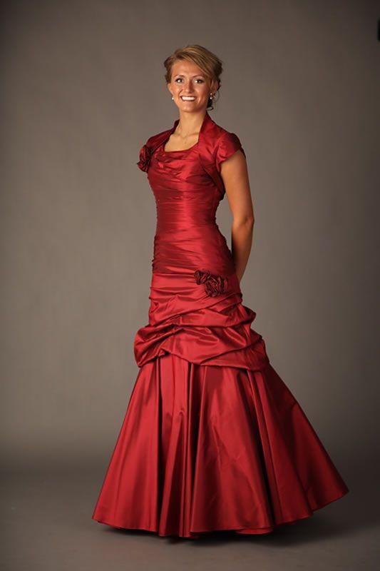 Modest Red Bridesmaid Dresses - Ocodea.com