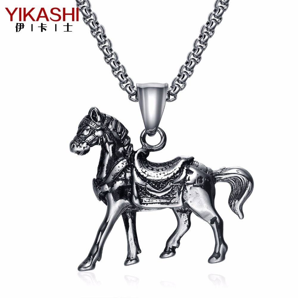 Horse charms necklace 2017 new jewelry gift stainless steel big horse charms necklace 2017 new jewelry gift stainless steel big pendant necklace men personalized fashion jewelry aloadofball Gallery