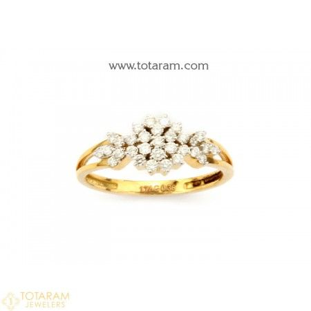 18K Gold Diamond Ring for Womens 235 DR769 Buy this Latest