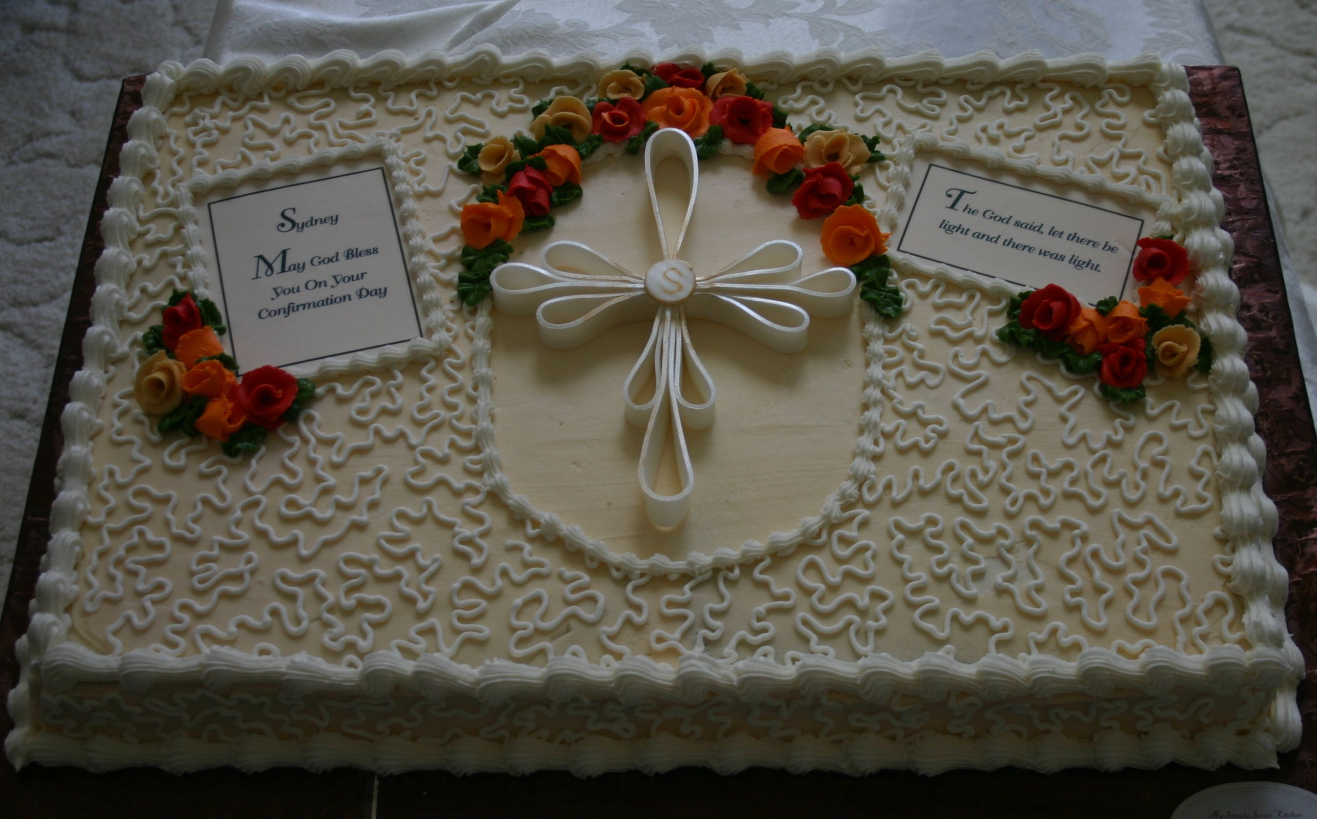 Confirmation Cake | Cake Decorating | Confirmation cakes