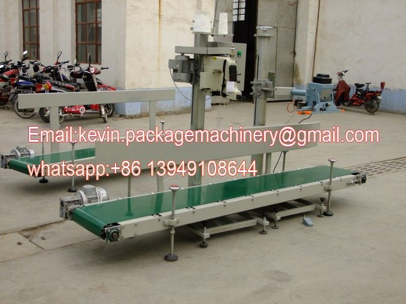 grain belt conveyor handling system for sealing machine