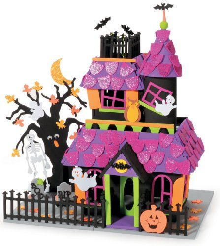 giant haunted house halloween foam activity darice crafts achttpwwwamazoncomdpb008ho7en2refcm_sw_r_pi_dp_zpcmtb04k6rbvxx5