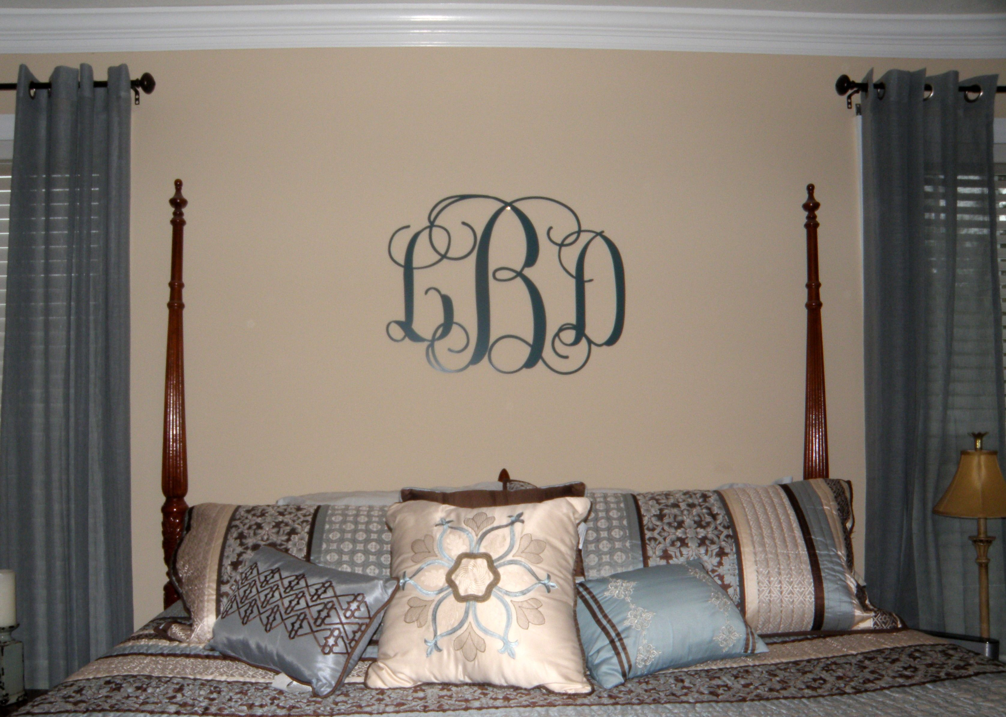 Metal Monogram Letters Wall Art Metal Monogram Door Hanger Monogrammed Metal Wreath Monogram