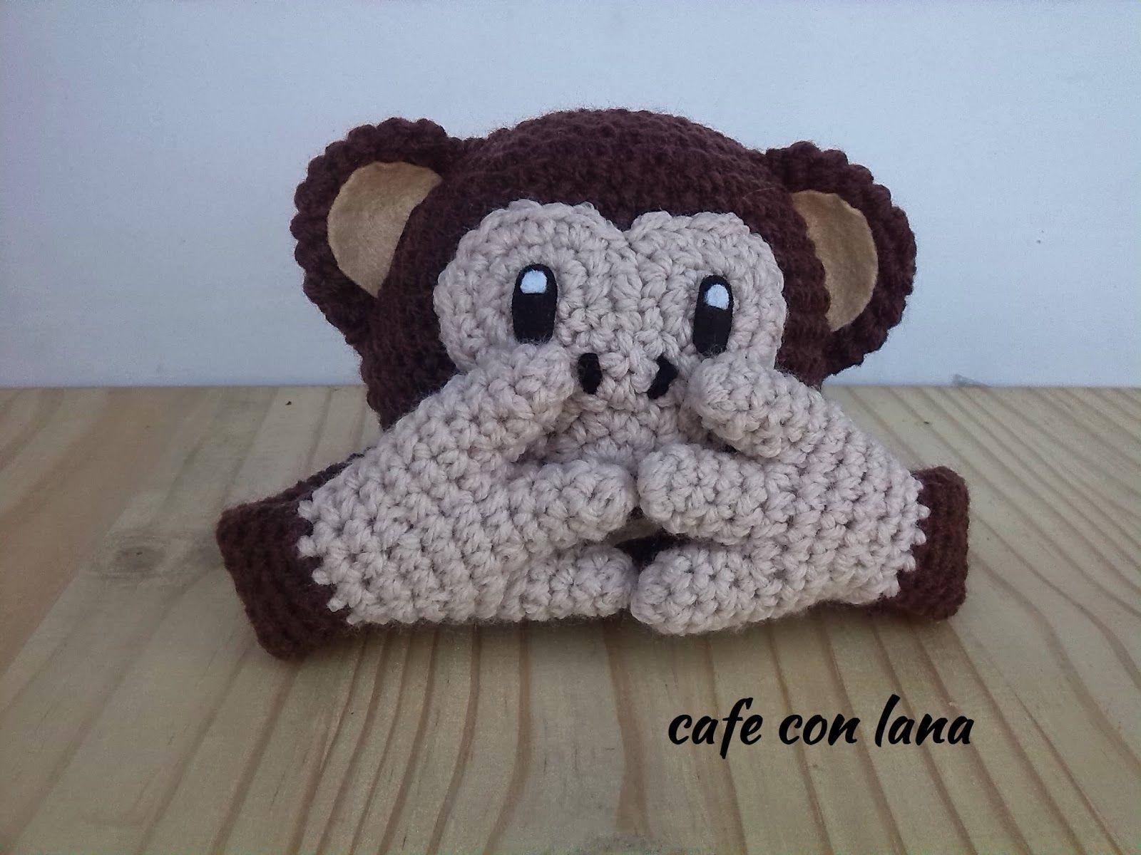 Dorable Crochet Patrón De La Cara Del Mono Cresta - Manta de Tejer ...