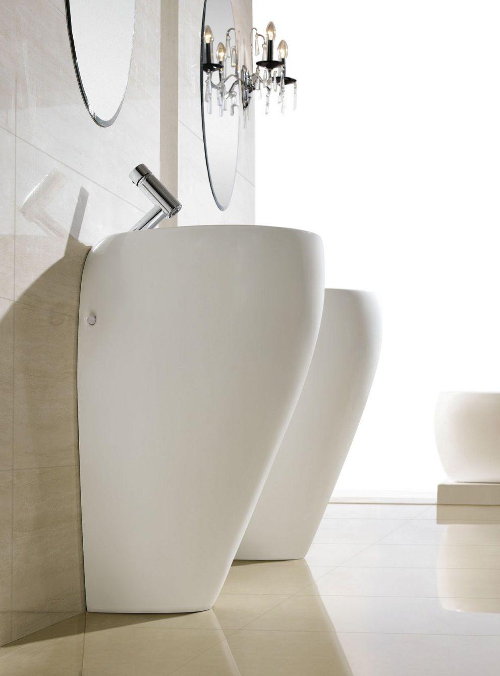 Modern Bathroom Pedestal Sink Cerchio With Images Modern