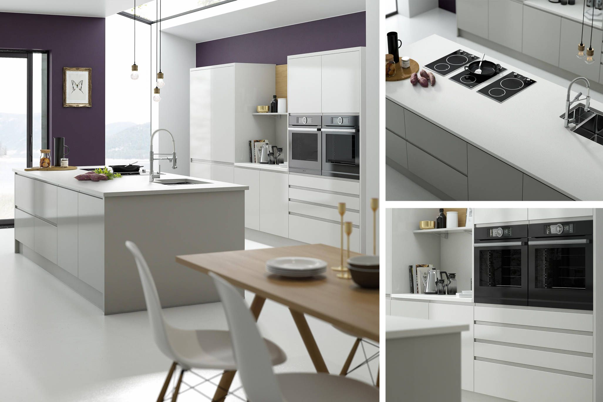Handleless Pebble Gloss image 1 Handleless kitchen, Wren