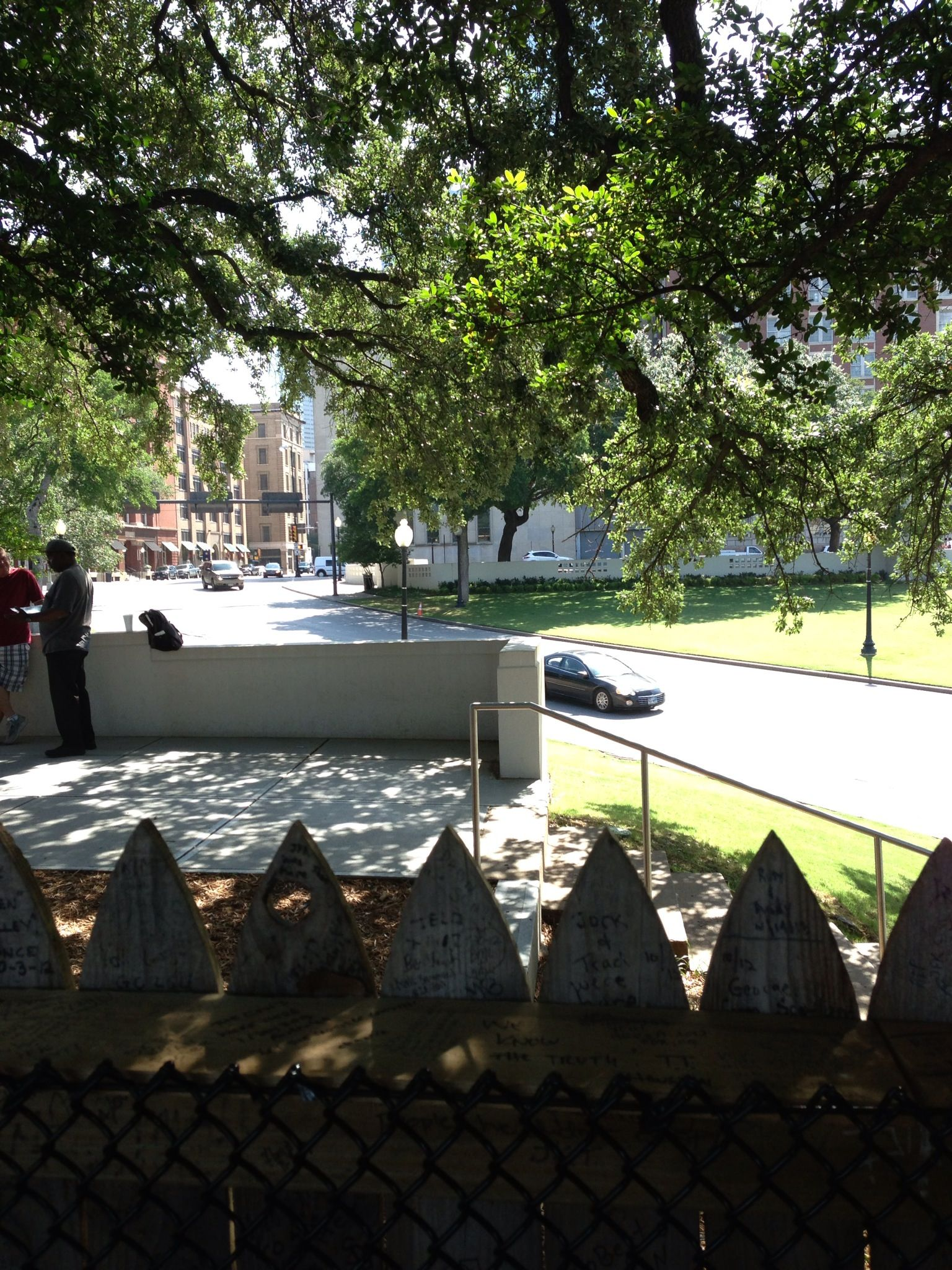 View From Behind The Picket Fence Atop The Grassy Knoll At