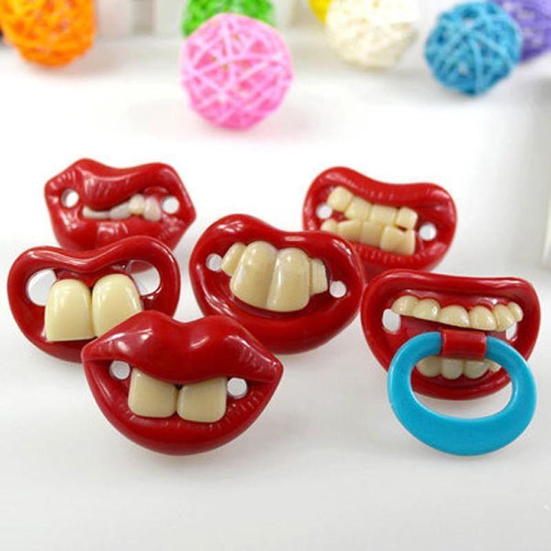 Dummy Pacifier Nipples Kids Orthodontic Baby Boy Girl Funny Mustache Beard Teeth