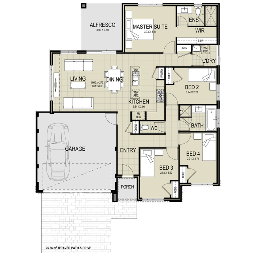 The Miami Floor Plan Floor Plans House Plans Master Suite
