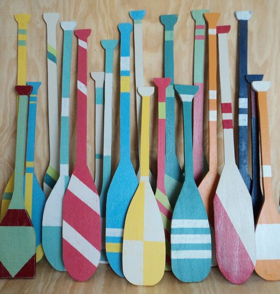 Nautical Wall Decor Oars: Decorative Oars, Hanging Oars, Boat Decor, Nautical Decor