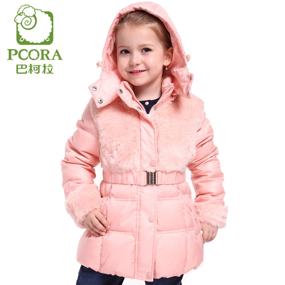1a3017c99 PCORA Winter Jacket for Girls Winter Coats Pink Khaki White Duck ...
