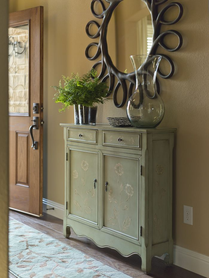 Narrow Entryway Cabinet how to style a traditional entryway. click to shop this look and