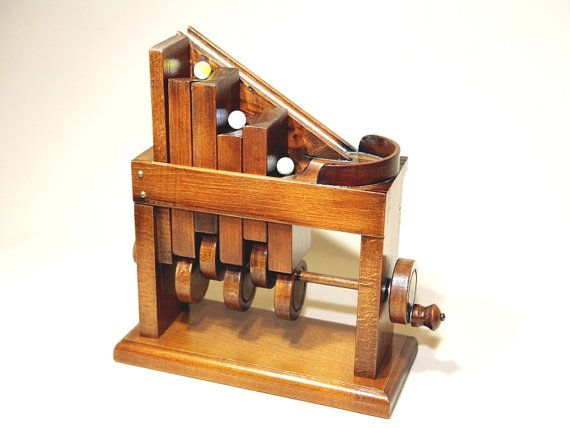 Marbles Automata Wooden Automatism Kinetic Art Wooden