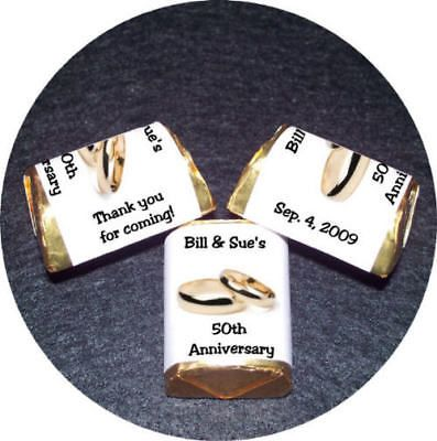 wedding rings candy wrappers favors 50th anniversary