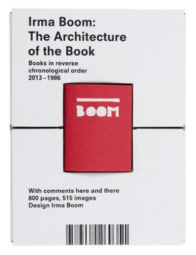 Irma Boom  the architecture of the book  books in reverse - reverse chronological order