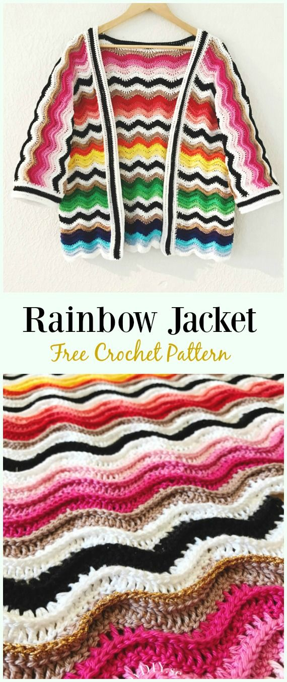Crochet Women Summer Jacket Cardigan Free Patterns Haken