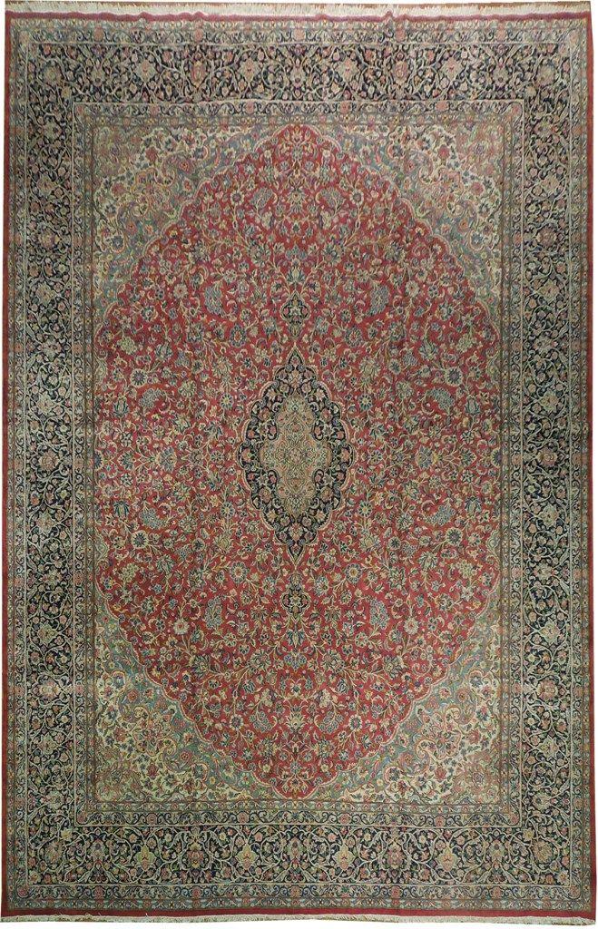 11x15 Authentic Antique Persian Kerman Lavar Rug Detailed Floral Iran 50 S Rugs Kerman Rugs Antiques