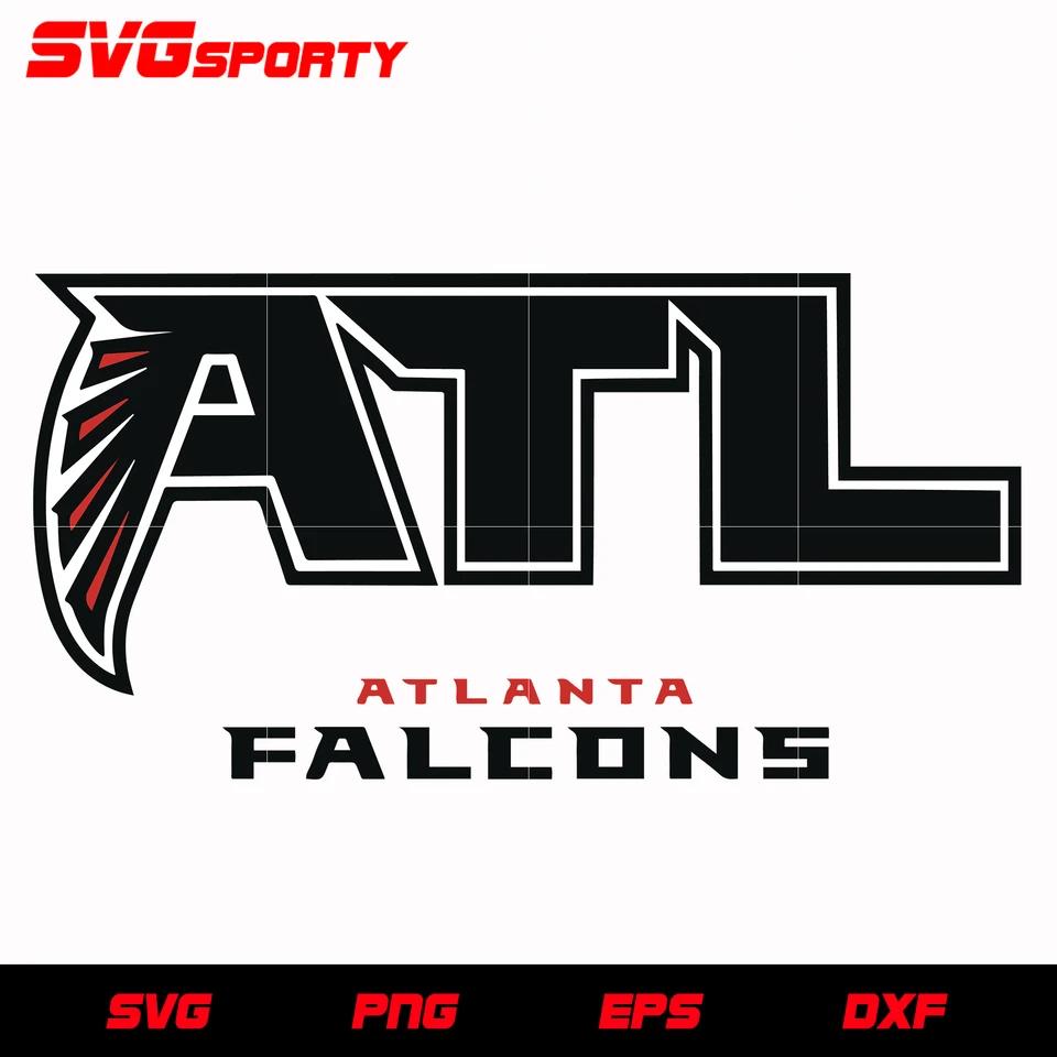 Atlanta Falcons Atl Logo Svg Nfl Svg Eps Dxf Png Digital File In 2020 Atlanta Falcons Svg Atlanta Falcons Falcons