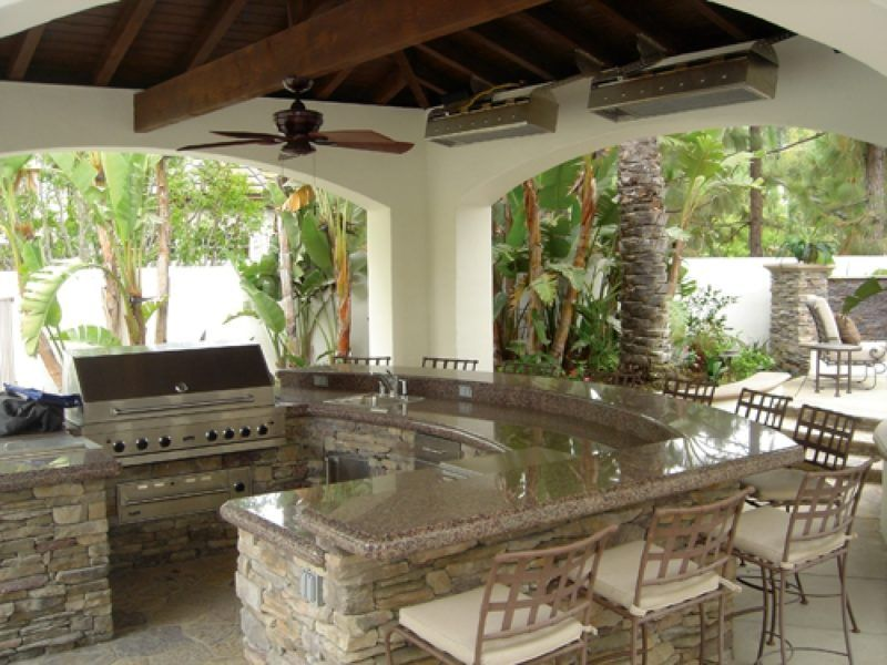 Outdoor Kitchen Bar Outdoor Kitchen And Bar For Your Bungalow