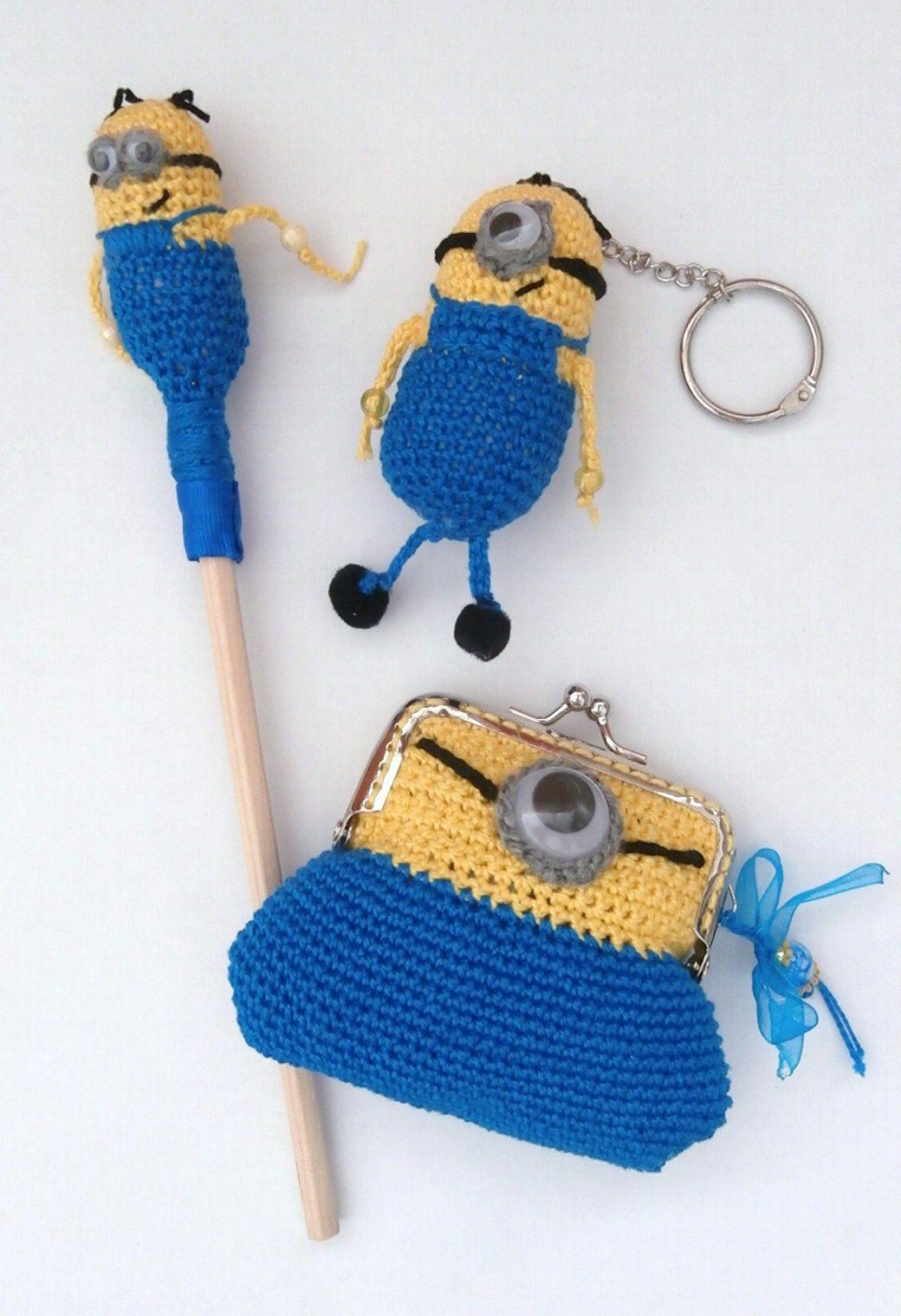 conjunto minion a crochet