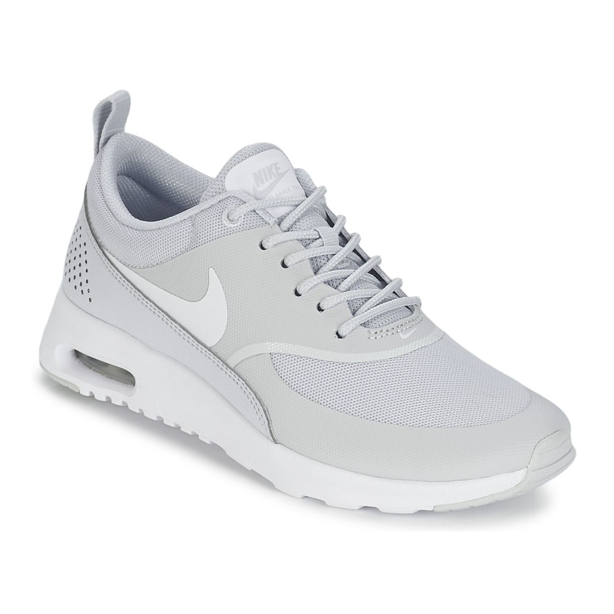 baskets basses nike air max thea w gris prix promo baskets femme spartoo shoes. Black Bedroom Furniture Sets. Home Design Ideas