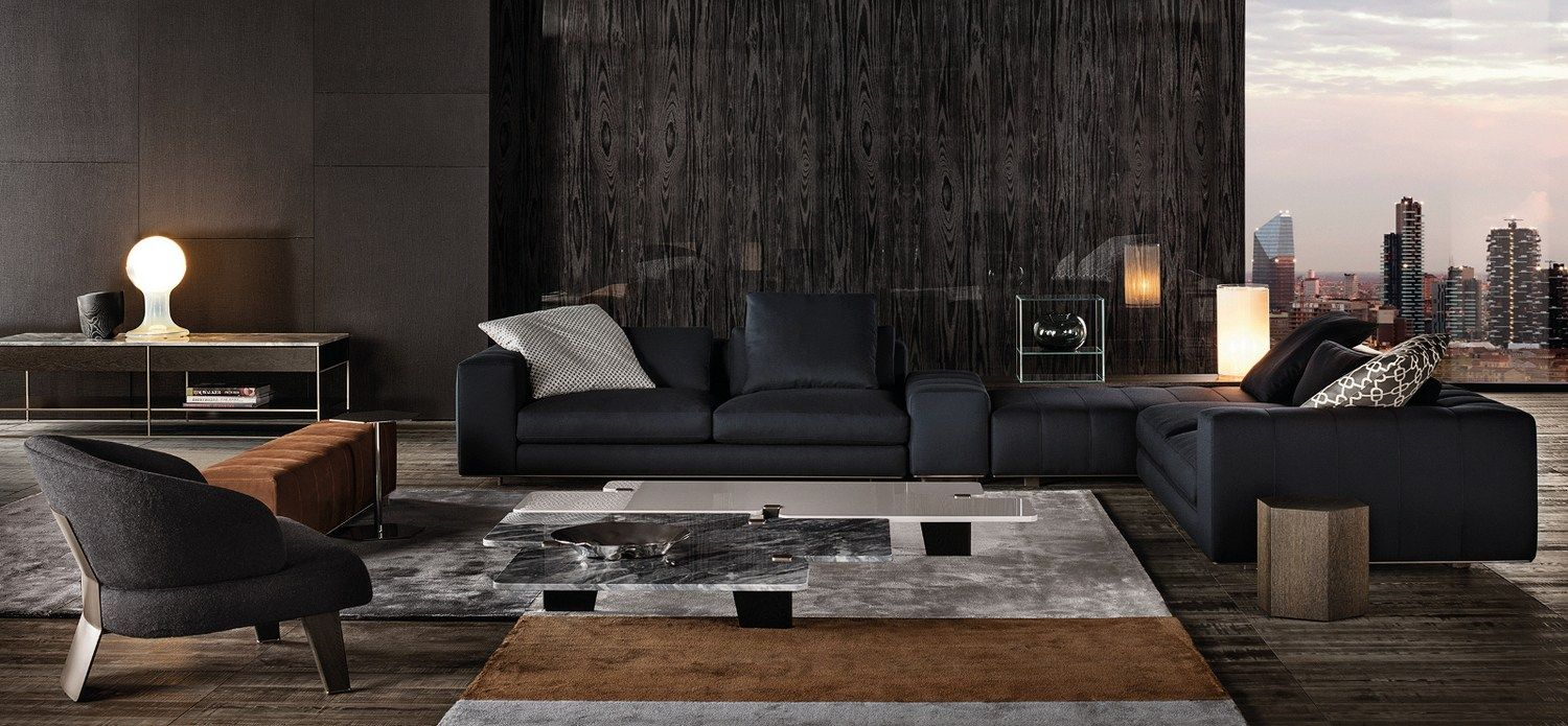 Sofa Freeman Seating System By Minotti Design Rodolfo Dordoni  # Taylor Muebles Guadalajara