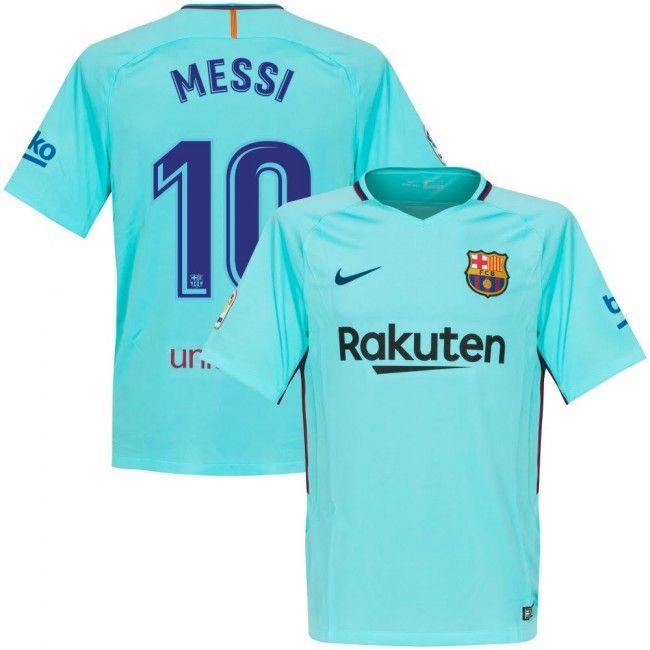cbc553163 Camiseta del Barcelona 2017-2018 Visitante + Messi 10 (Dorsal Oficial)   fashion