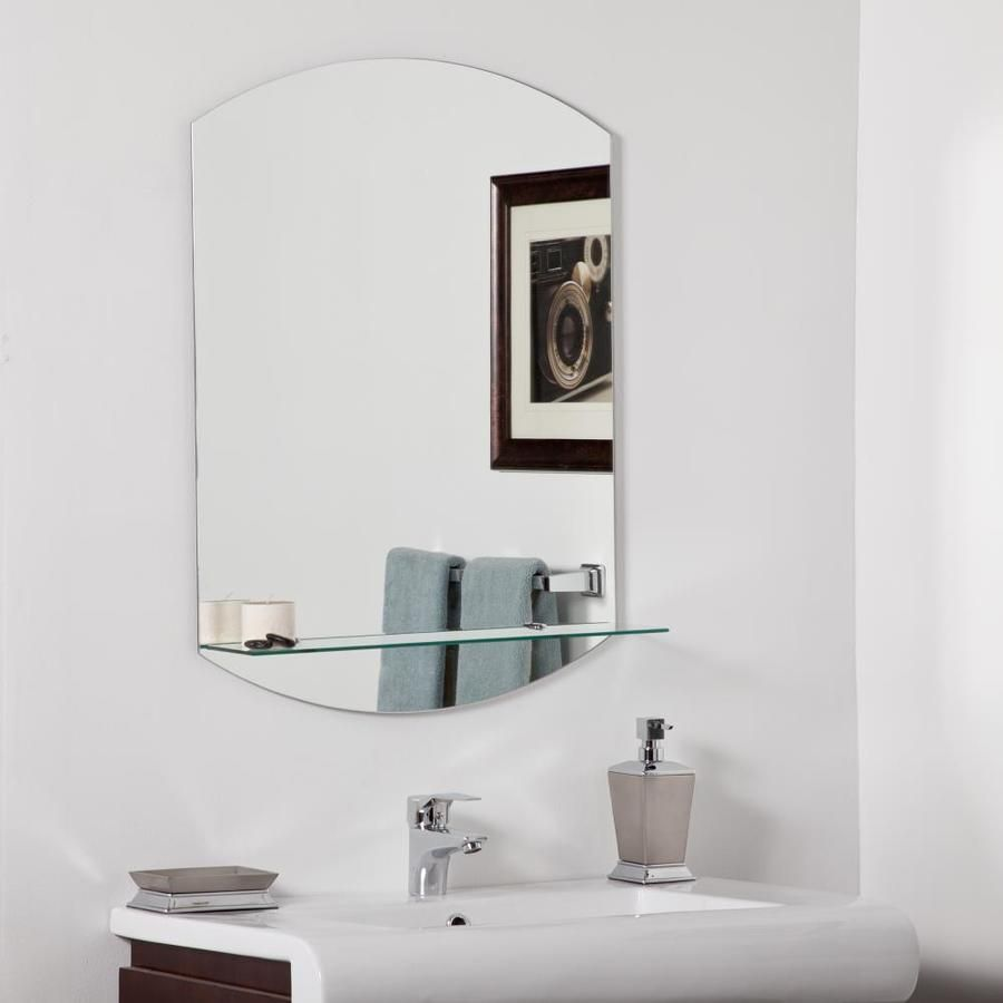 Decor Wonderland 12.12-in Arch Frameless Bathroom Mirror Lowes.com