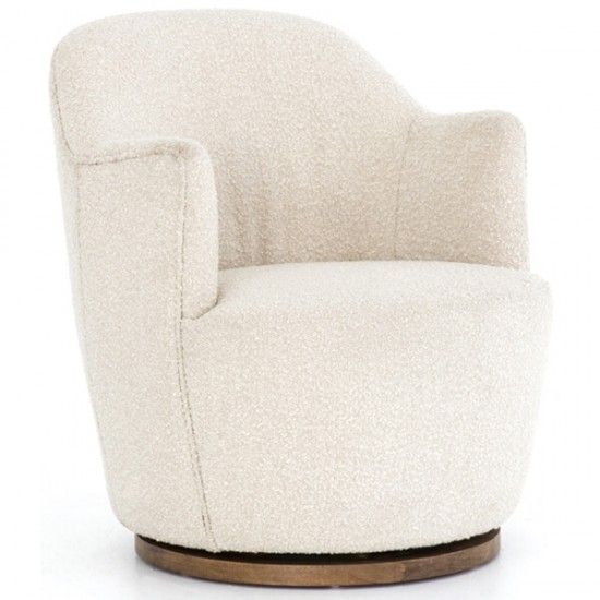 Aurora Swivel Chair Knoll Natural Living Room Chairs White Furniture Living Room Living Decor