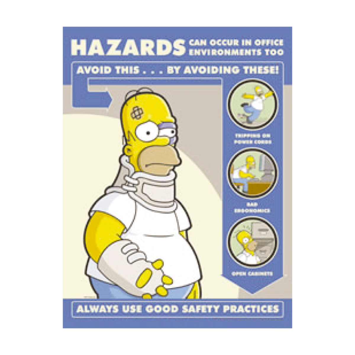 simpsons poster Simpsons Hazards In Office Environment