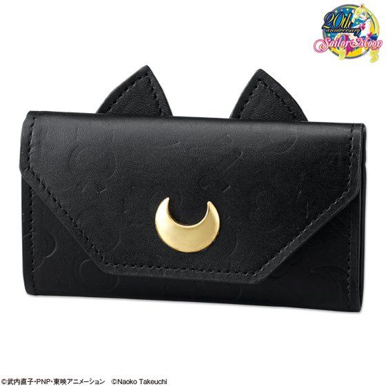 Cosplay Sailor Moon 20th Crystal Anniversary Luna Bag Purse Wallet With Moon Logo Costumes & Accessories Costume Props