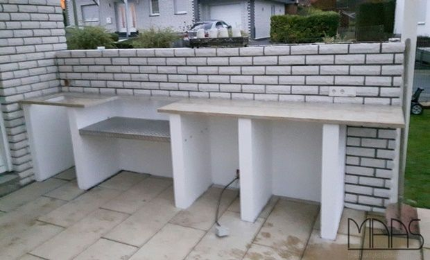 Granit Arbeitsplatten sind auch im Außenbereich geeignet   - granit arbeitsplatte küche
