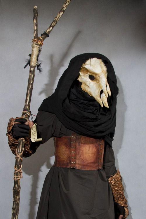 underworldlarp:    An undead oracle poses for the camera at Underworld LARP.