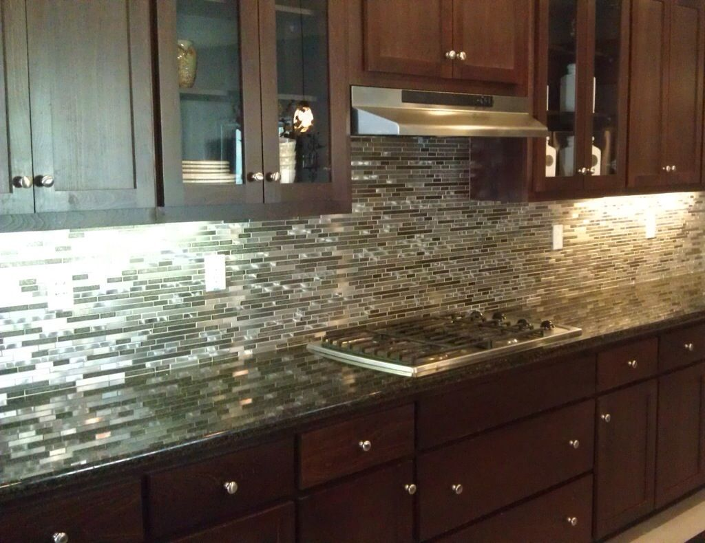 Stainless Steel Backsplash Tiles Design Http Www 1stkitchendecor Com