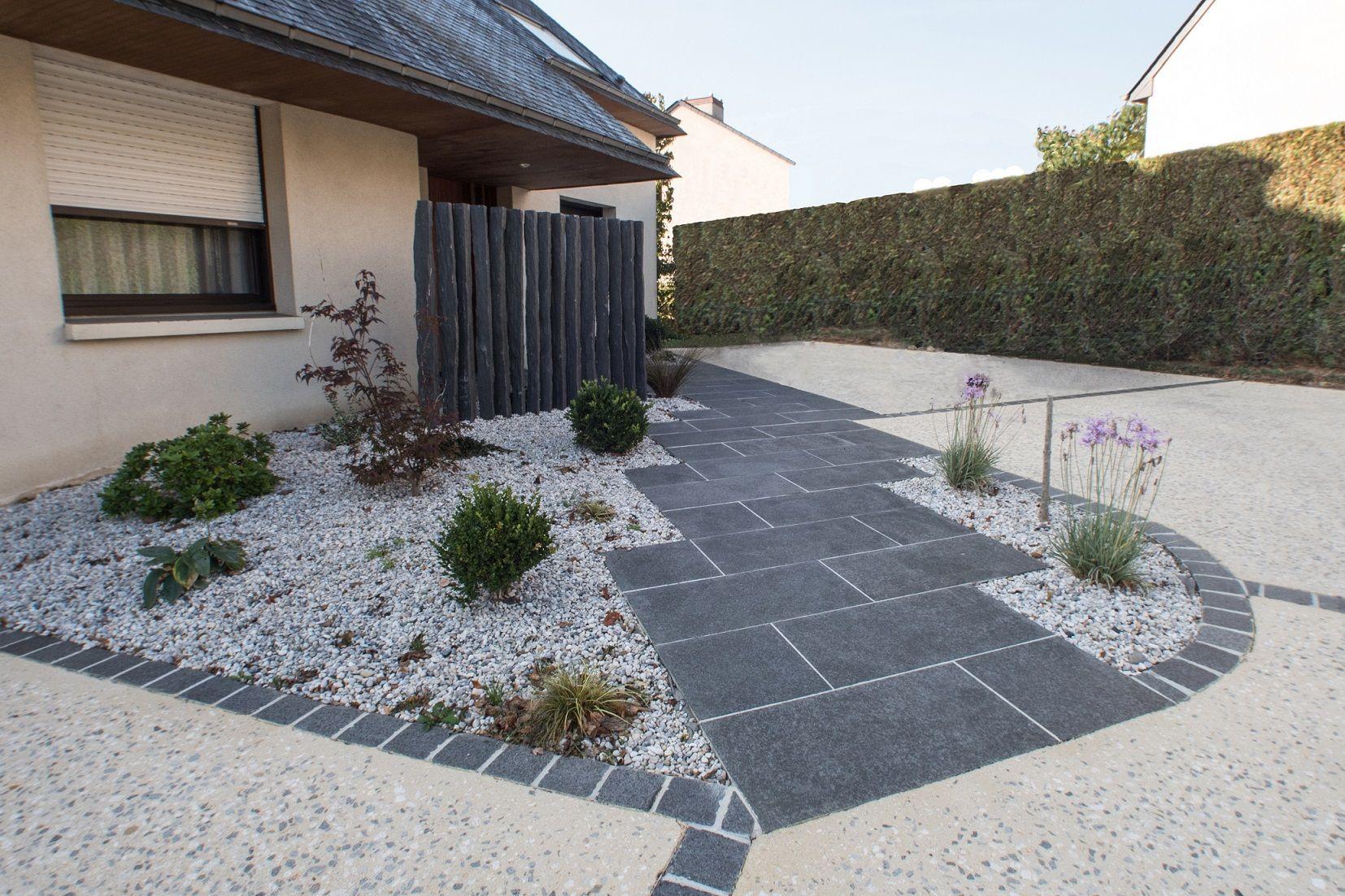 100 Fantastique Concepts Deco Jardin Avec Pave