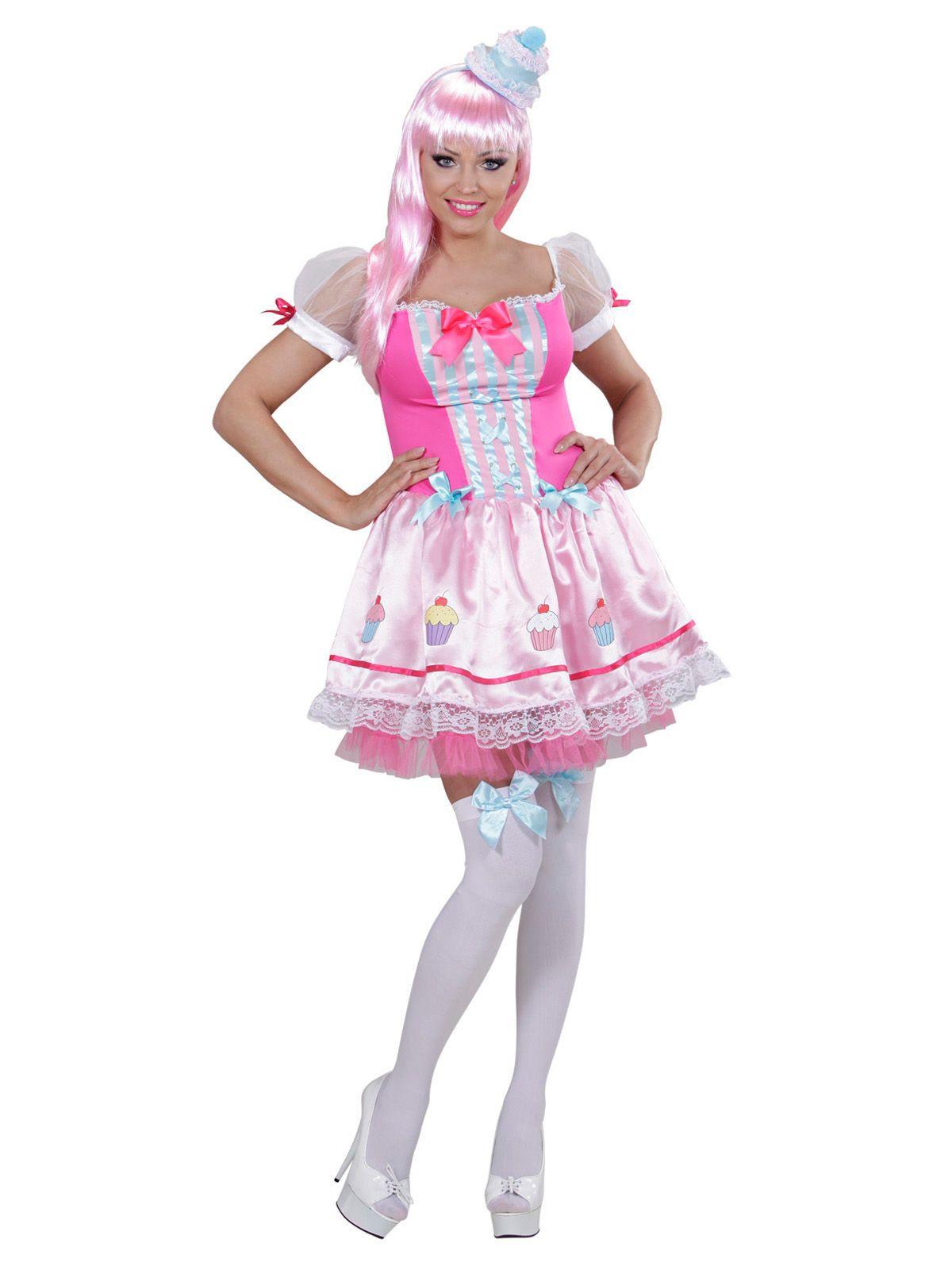Candy Girl Damenkostum Cupcake Rosa Weiss Aus Unserer Kategorie
